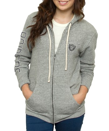 Heather Oakland Raiders Hoodie - Women