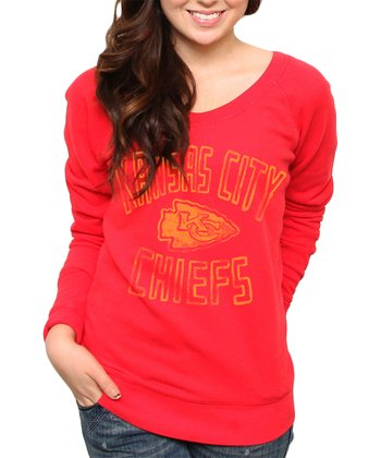 Red Kansas City Chiefs Sweatshirt - Women