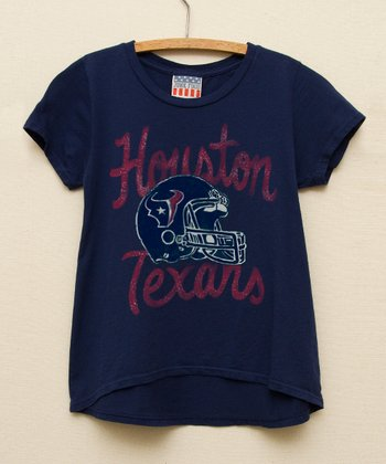 Navy Houston Texans Hi-Low Tee - Toddler & Girls