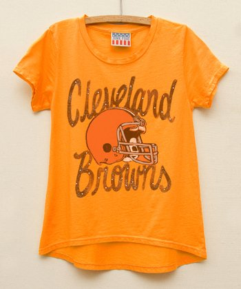 Orange Cleveland Browns Hi-Low Tee - Girls