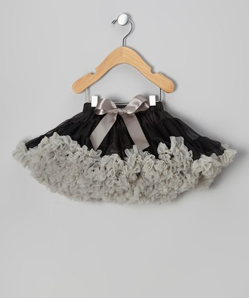 Black & Silver Pettiskirt - Toddler & Girls