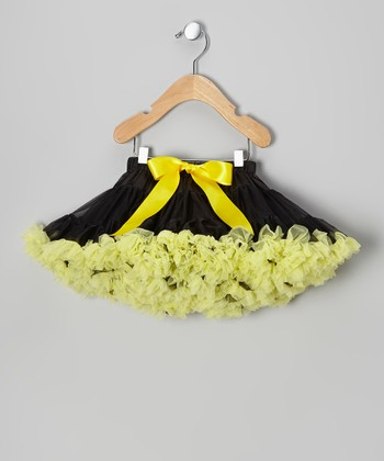 Black & Yellow Pettiskirt - Toddler & Girls