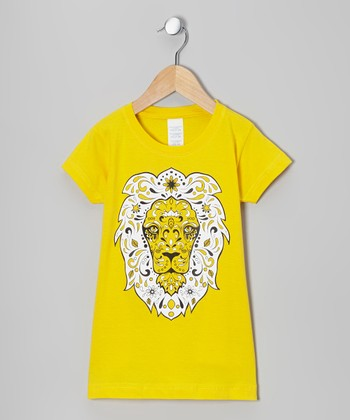 Yellow Sugar Lion Tee - Infant, Toddler & Girls