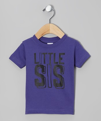 Purple 'Little Sis' Tee - Infant, Toddler & Girls