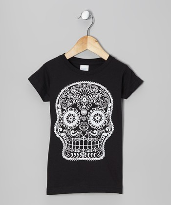 Black Sugar Skull Tee - Infant, Toddler & Girls
