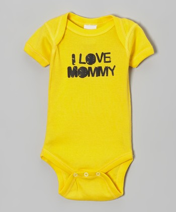 Yellow 'I Love Mommy' Bodysuit - Infant