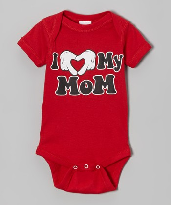 Red 'I Love My Mom' Bodysuit - Infant