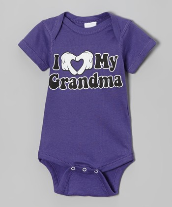 Purple 'I Love My Grandma' Bodysuit - Infant