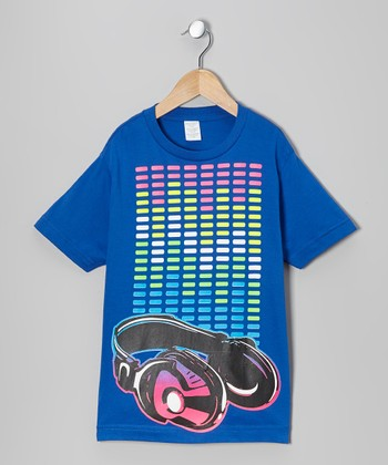Royal Headphone Beats Tee - Toddler & Boys