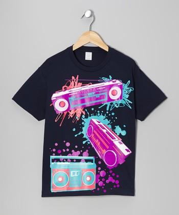 Navy Boombox Beats Tee - Toddler & Boys