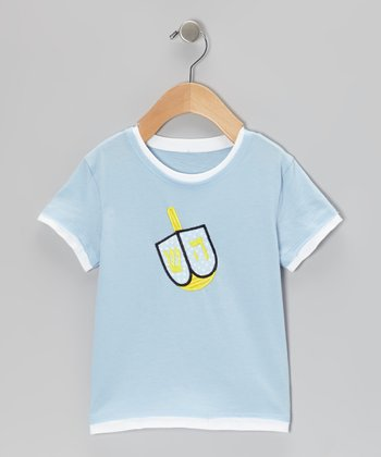 Blue Dreidel Tee - Toddler