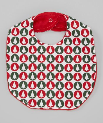 Red & Green Christmas Tree Bib
