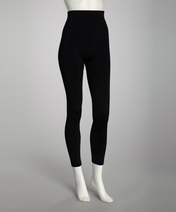Jet Black Footless Tights Set