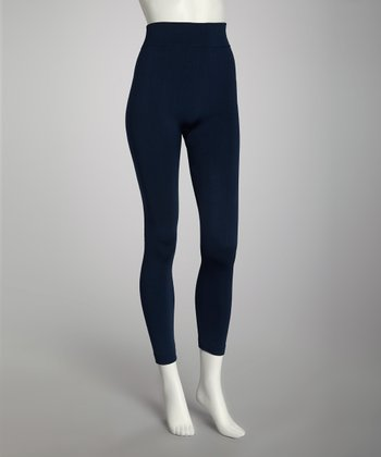 Navy Footless Tights Set - Women