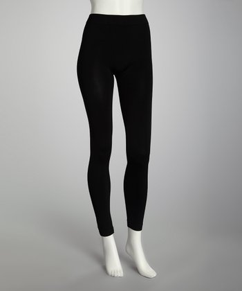 Black Footless Tights Set - Women