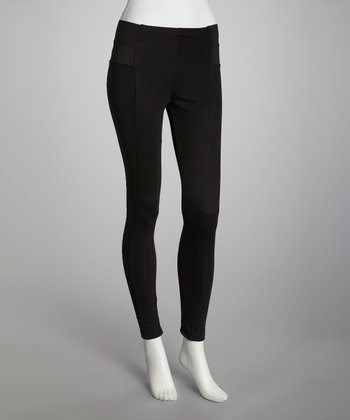 Black High-Waisted Leggings - Women