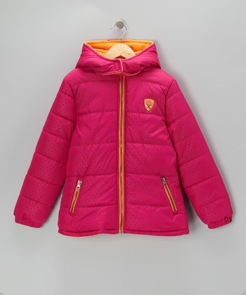 Berry & Orange	Puffer Coat - Toddler & Girls
