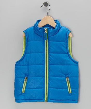 Royal Zip-Up Puffer Vest - Toddler & Boys