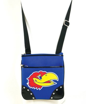 Kansas Jayhawks Studded Crossbody Bag