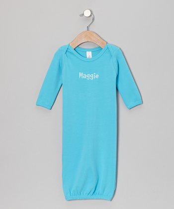Aqua Personalized Gown - Infant
