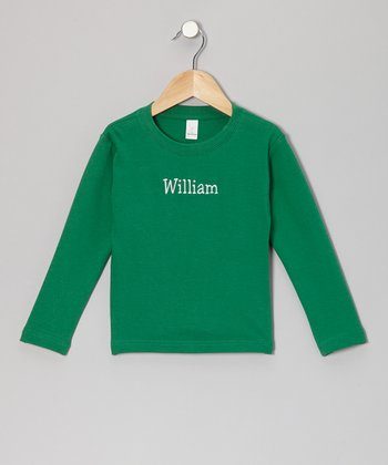 Kelly Green Personalized Tee - Toddler & Kids