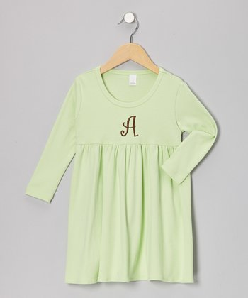 Apple Initial Babydoll Dress - Infant, Toddler & Girls