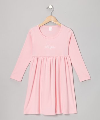 Pink Personalized Babydoll Dress - Infant, Toddler & Girls