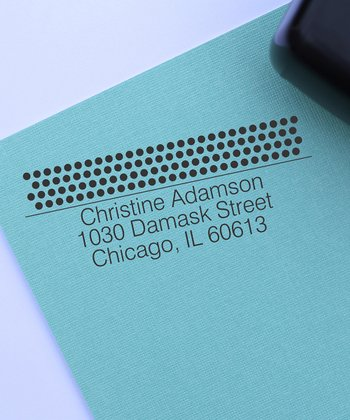 Polka Dot Personalized Self-Inking Stamp