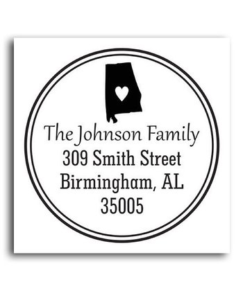 Alabama Classic Personalized Self-Inking Stamp
