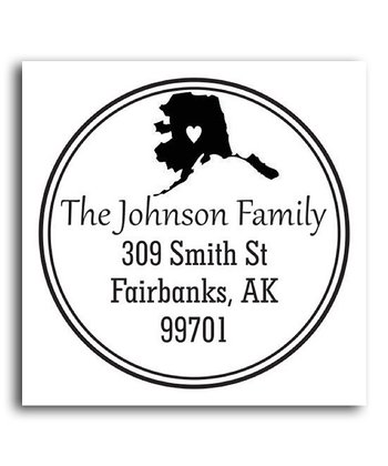 Alaska Classic Personalized Self-Inking Stamp