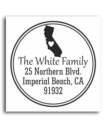 California Classic Personalized Self-Inking Stamp