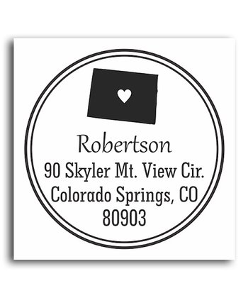 Colorado Classic Personalized Self-Inking Stamp