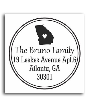Georgia Classic Personalized Self-Inking Stamp