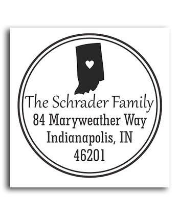 Indiana Classic Personalized Self-Inking Stamp