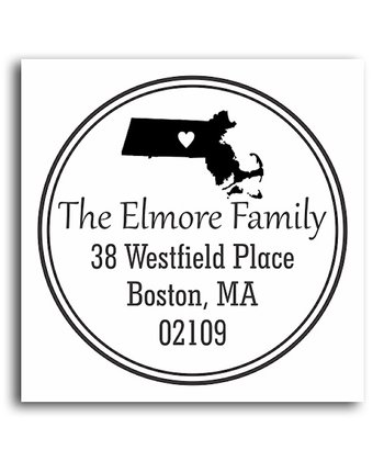 Massachusetts Classic Personalized Self-Inking Stamp