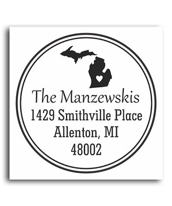 Michigan Classic Personalized Self-Inking Stamp