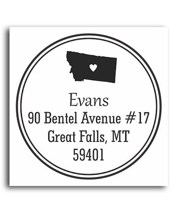 Montana Classic Personalized Self-Inking Stamp