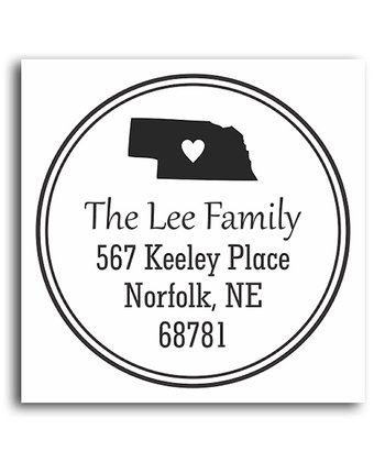 Nebraska Classic Personalized Self-Inking Stamp