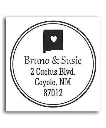 New Mexico Classic Personalized Self-Inking Stamp