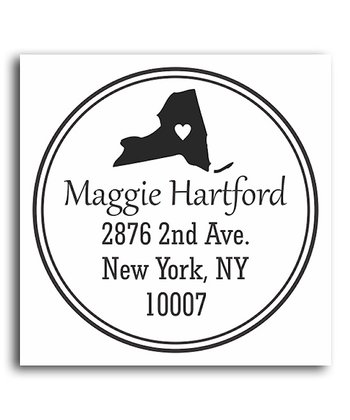 New York Classic Personalized Self-Inking Stamp