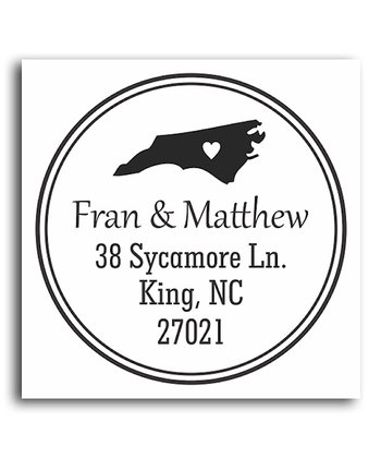 North Carolina Classic Personalized Self-Inking Stamp