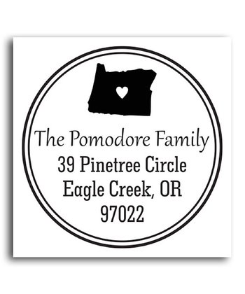 Oregon Classic Personalized Self-Inking Stamp