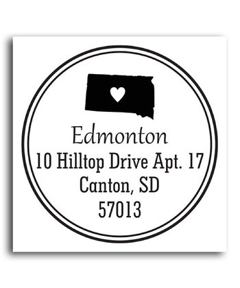 South Dakota Classic Personalized Self-Inking Stamp