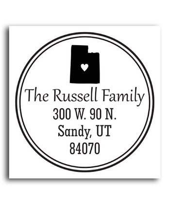 Utah Classic Personalized Self-Inking Stamp