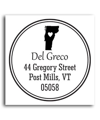 Vermont Classic Personalized Self-Inking Stamp