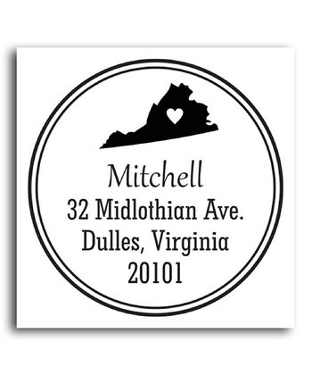 Virginia Classic Personalized Self-Inking Stamp