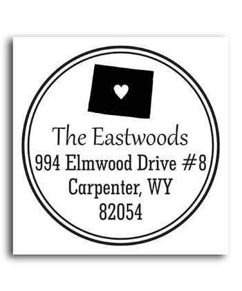 Wyoming Classic Personalized Self-Inking Stamp