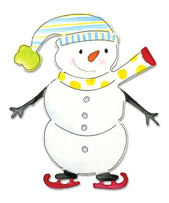 Dena Designs Snowman on Skates Bigz Die