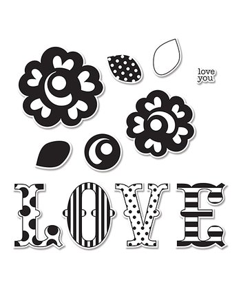 Doodlebug Design LOVE Framelits Die & Stamp Set