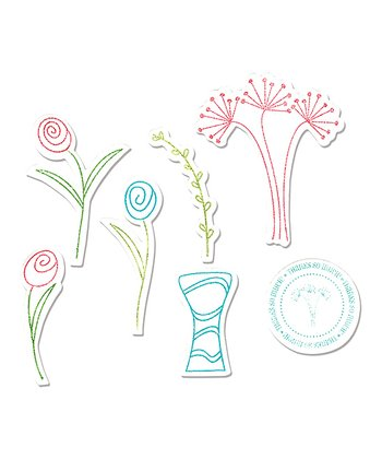 Stephanie Barnard Flowers & Vase Framelits Die & Stamp Set